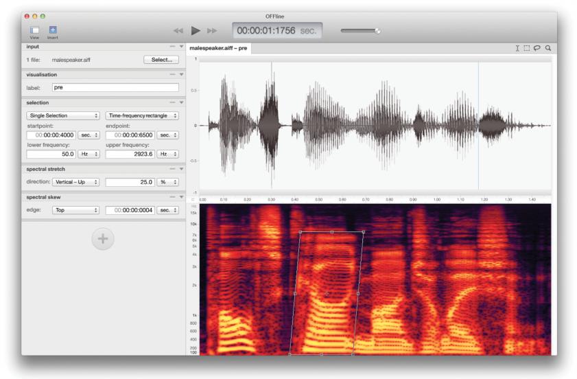 OFFline - a concept audio editor