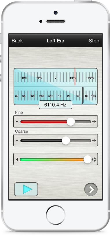 Tinnitus Pro –Audio test